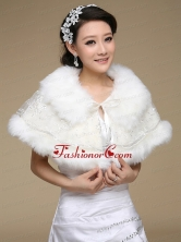 Most Popular Faux Fur 2015 Wraps with Lace ACCWRP037FOR