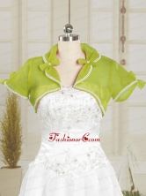 Olive Green Organza Wedding Party Shawls with Beading JSA004-24FOR