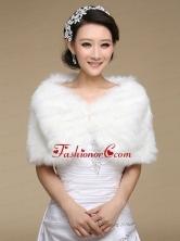 Pearl Front Closure Rabbit Fur 2015 Pretty Shawls ACCWRP004FOR
