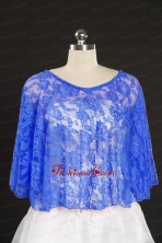 Royal Blue Beading Lace Hot Sale Wraps for 2014 JSA005-23FOR