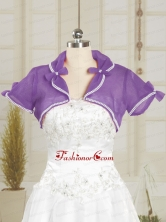 Simple Red Purple Organza Shawls with Beading JSA004-20FOR