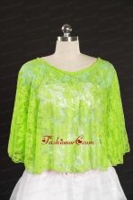 Spring Green Beading Lace Fall Wraps for 2014 JSA005-6FOR