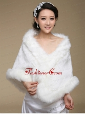 Top Selling Open Front Wraps in White ACCWRP017FOR
