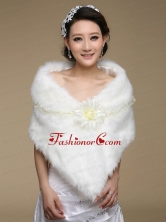 Unique White Faux Fur Wraps for 2015 ACCWRP047FOR