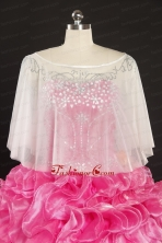 White Organza Beading Shawls for Summer JSA022FOR