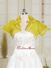 Yellow Cheap Wedding Party Shawls with Beading JSA004-5FOR