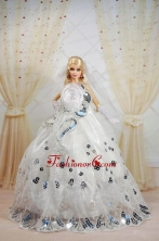 Amazing Ball Gown Dress For Noble Quinceanera With Sequin And Hand Made Flowers Babidf402for