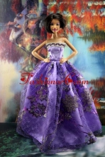 Appliques New Fashion Princess Pink Dress Gown For Quinceanera Doll Babidf199for