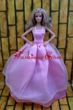 Ball Gown Dress For Quinceanera Doll Dress With Lavender And Straps Babidf214for