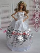 Ball Gown Party Clothes Sequins Quinceanera Doll Dress Babidf109for