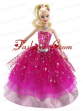 Beading Ball Gown Organza Colorful Quinceanera Doll Dress Babidf013for