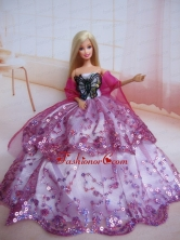 Beading Decorate Ball Gown Colorful Quinceanera Doll Dress Babidf106for