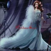 Beading Mermaid Aqua Blue Quinceanera Doll Babidf010for