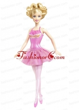 Beading Princess Mini-length Pink Quinceanera Doll Dress Babidf016for