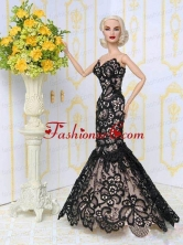 Beautiful Lace Mermaid Party Clothes Fashion Dress For Quinceanera Doll Babidf022for
