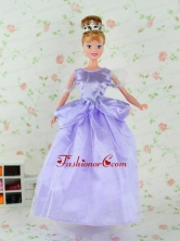 Beautiful Lilac Tulle Party Dress For Noble Quinceanera Doll Babidf304for
