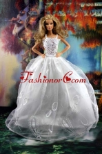 Beauty Ball Gown And Embroidery For Quinceanera Doll Wedding Dress Babidf192for