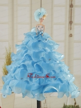 Cute Baby Blue Quinceanera Doll Dress In 2015 Quinceanera001for