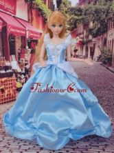 Cute Baby Blue Beading Made To Fit The Quinceanera Doll Babidf256for