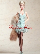 Cute Halter Apple Green Dress With Mini-length Quinceanera Doll Dress Babidf024for