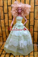 Cute Yellow Green Party Dress Made To Fit The Quinceanera Doll Babidf213for