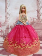 Elegant Ball Gown Organza Colorful Quinceanera Doll Dress Babidf101for