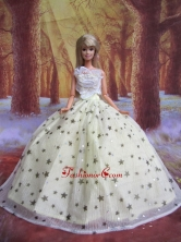Elegant Handmade Gown With Sequins Made To Fit The Quinceanera Doll Babidf040for