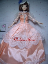 Elegant Orange Gowns Taffeta Made To Fit The Quinceanera Doll Babidf286for