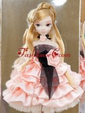 Elegant Party With Pink Taffeta Made To Fit The Quinceanera Doll Babidf343for