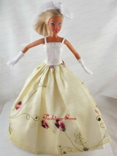 Elegant Princess Dress With Embroidery Gown For Quinceanera Doll Babidf325for