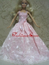 Embroidery Ball Gown Quinceanera Doll Dress Babidf131for
