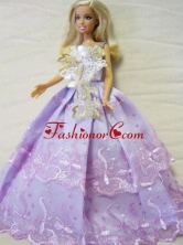 Embroidery Ball Gown Quinceanera Doll Dress Babidf132for