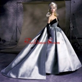 Exclusive Beading Grey Ball Gown Quinceanera Doll Dress Babidf002for