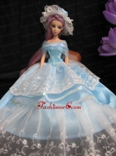 Fashion Handmade Quinceanera Princess Dress With Sequins Made To Fit The Quinceanera Doll Babidf029for