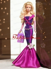 Fashion Handmade Mermaid Dress With Flower Made To Fit The Quinceanera Doll Babidf027for