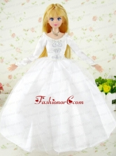 Fashion Handmade White Tulle Quinceanera Wedding Dress For Quinceanera Doll Babidf300for