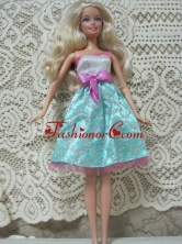 Fashion Princess Handmade Dress With Beading Knee-length Made To Fit The Quinceanera Doll Babidf142for