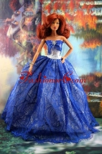 Fashion Royal Blue Dress For Quinceanera Doll Babidf178for