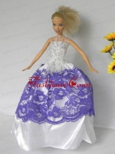 Free Shippment Quinceanera Doll Wedding Clothes Party Dresses Gown Babidf271for