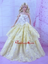 Gorgeous Yellow Princess Dress For Quinceanera Doll Babidf160for
