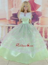 Green Pretty Gown With Embroidery Dress For Quinceanera Doll Babidf315for