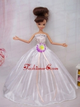 Hand Made Flower Ball Gown Quinceanera Doll Dress Babidf093for