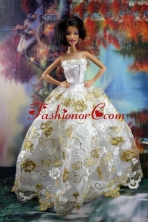 Lace Sweet White Princess Dress For Quinceanera Doll Dress Babidf193for