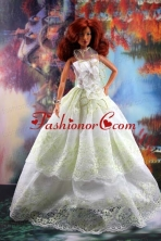 Lace And Hand Made Flowers To A-line Quinceanera Doll Dress Babidf196for