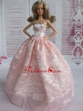 Lovely Baby Pink Applqiues Party Clothes Fashion Dress For Noble Quinceanera Babidf065for