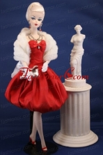Lovely Red Party Dress With Knee-length For Quinceanera Doll Babidf173for