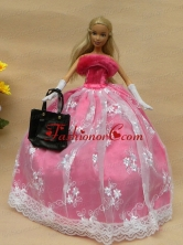 New Arrival Party Clothes Dress for Barbie Doll Girls Gift Free Shipping BABIDF274FOR