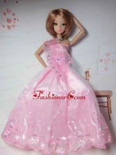 New Arrival Red Dress With Tulle Made To Fit The Quinceanera Doll Babidf285for