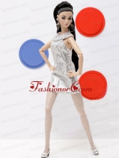 Popular Grey Holiday Dress With Sequins Made To Fit The Quinceanera Doll Babidf353for