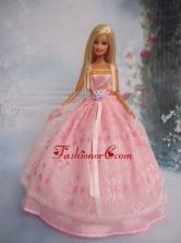 Pretty Ball Gown Taffeta And Organza Quinceanera Doll Dress Babidf099for